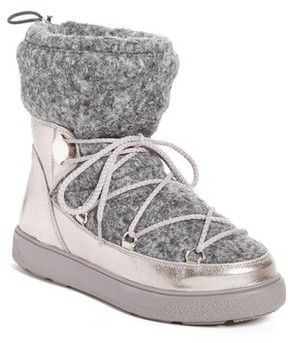 Moncler Women's Ynnaf Boiled Wool Lined Snow Boot