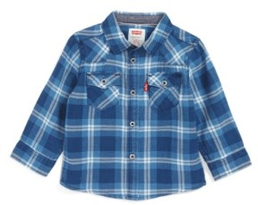 Levi's Infant Boy's Barstow Plaid Shirt