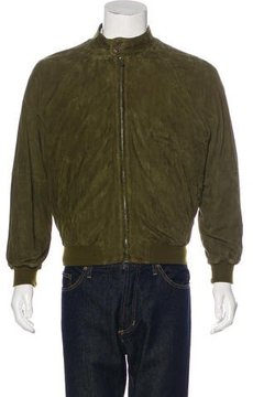 Bally Suede Bomber Jacket