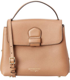 Burberry Camberley Small House Check & Leather Top Handle - BROWN - STYLE