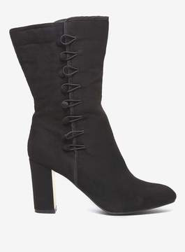 Dorothy Perkins Black 'Kitty' Button Detail Boots