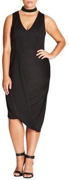 City Chic Plus Size Women's Sexy Choker Dress