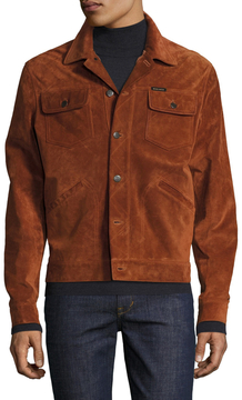 Michael Bastian Men's Suede Spread Collar Jacket