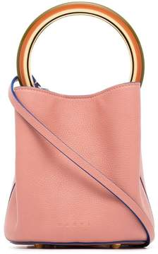 Marni pink Pannier small leather bucket bag