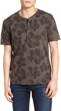 Lucky Brand Floral Print Henley T-Shirt