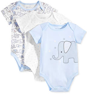 First Impressions 3-Pk. Elephant Bodysuits, Baby Boys (0-24 months), Created for Macy's