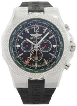 Breitling for Bentley GMT Chronograph Stainless Steel & Rubber 49mm Watch