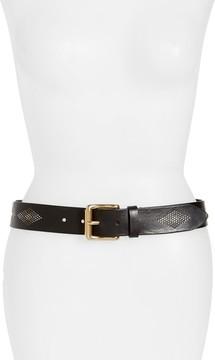 Frye Women's Rhombus Stud Leather Belt