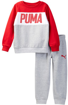 PUMA Sweatshirt & Pant Set (Toddler Boys)