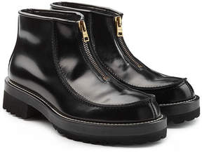 Marni Glossy Leather Zip Front Boots