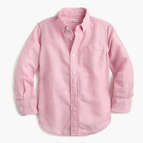 J.Crew Kids' cotton-linen shirt