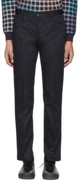 Paul Smith Navy Slim Stay Sharp Trousers
