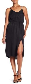 David Lerner Side Slit Midi Silk Dress