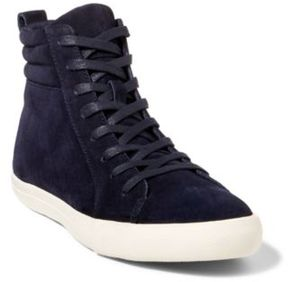 Ralph Lauren Gaven Suede High-Top Sneaker Navy 10