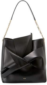 No.21 No. 21 Napa Leather Bow Hobo Bag