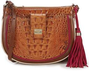 Brahmin Toasted Almond Hayes Collection Vanessa Cross-Body Bag