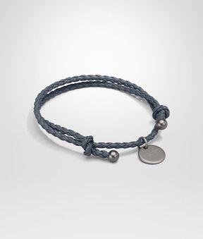 Bottega Veneta Bracelet In Krim Intrecciato Nappa Leather