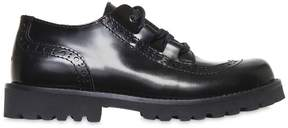 Dolce & Gabbana Leather Derby Lace-Up Shoes