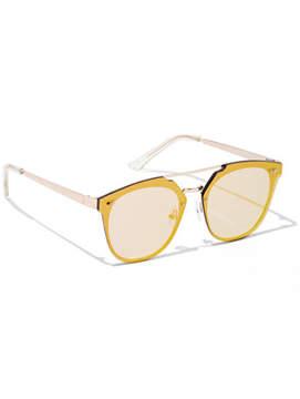 New York & Co. Brow Bar Shield Frame Sunglasses