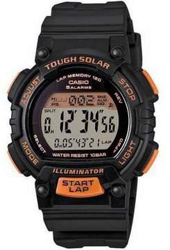 Casio Women's Solar Runner Watch, Black/Orange