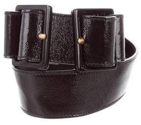 Saint Laurent Patent Leather Buckle Belt