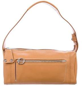 Salvatore Ferragamo Leather Zip Shoulder Bag