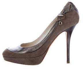 Christian Dior Bow-Embellished Platform Pumps