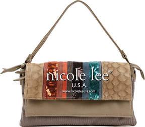 Nicole Lee Gia Striped Sequin Shoulder Bag (Women's)