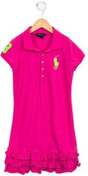 Ralph Lauren Girls' Ruffle-Trimmed Polo Dress