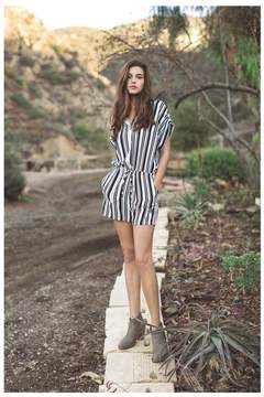Ark & Co Graphically Gifted Black & White Romper