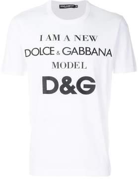Dolce & Gabbana slogan T-shirt