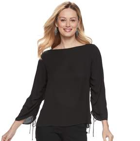 Apt. 9 Women's Ruched Georgette Top