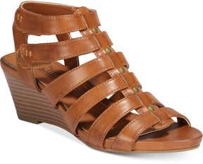 White Mountain Cliffs By Vivaldi Gladiator Wedge Sandals Women's Shoes