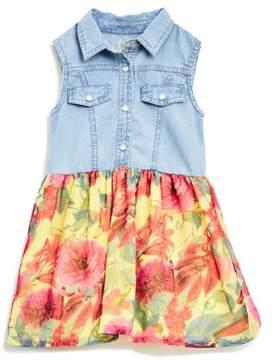 GUESS Girl's Sleeveless Two-Fer Dress (2-6x)