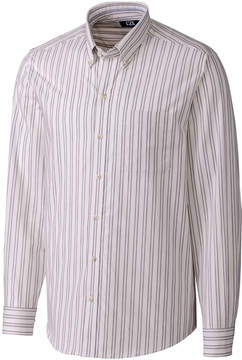 Cutter & Buck White & Black Stripe Leon Button-Up - Men