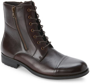 Kenneth Cole Reaction Brown Single Mind Cap Toe Lace-Up Boots