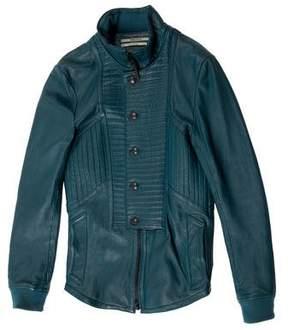 Robert Geller Quilted Leather Jacket