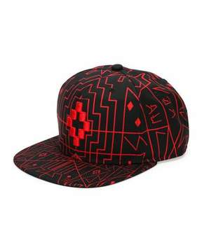 Marcelo Burlon County of Milan Starter Saloman Cap, Red