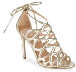 BCBGeneration Joanna Metallic Caged Sandals