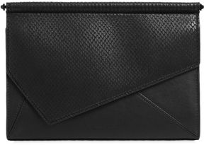 Ginza Snake Embossed Leather Clutch