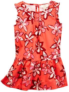 Kate Spade ruffle drop waist dress (Toddler & Little Girls)