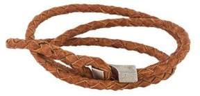 Miansai Woven Leather Wrap Bracelet