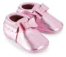 Freshly Picked Baby's Bow Leather Moccasin