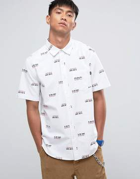 HUF Logo Print Shirt in Regular Fit