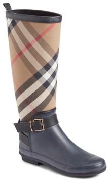 Burberry Women's Check Rain Boot