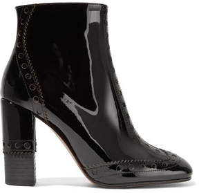 Chloé Perry Patent-leather Ankle Boots - Black