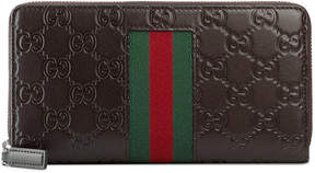Gucci Signature Web zip around wallet