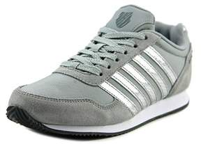 K-Swiss New Haven Cmf Ms Women Round Toe Canvas Gray Sneakers.
