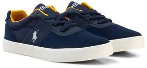 Ralph Lauren Navy Suede Hanford HM Laced Trainers