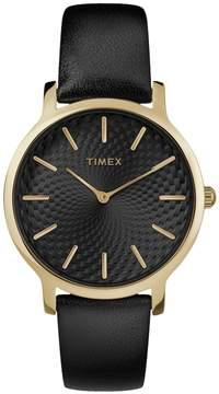 Timex Women's Metropolitan Skyline Leather Watch - TW2R36400JT